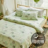 #B184#活性印染精梳純棉3.5x6.2尺單人床包被套三件組-台灣製(含枕套)
