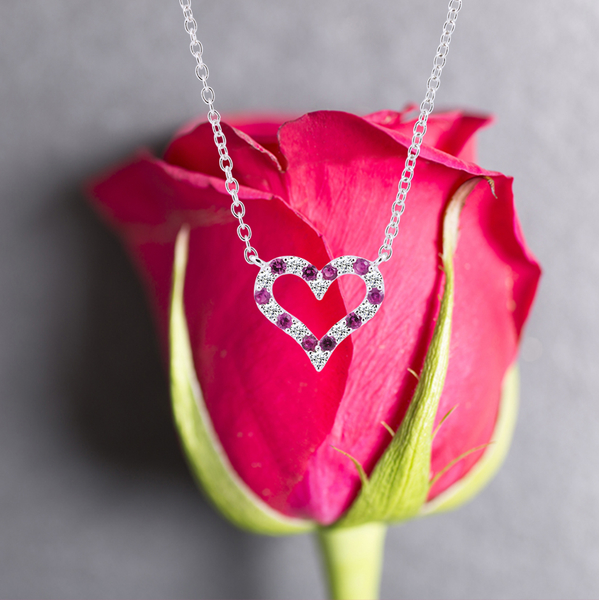 925純銀「只愛你」銀飾套鍊 / 情人禮物 (項鍊材質925純銀)