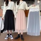 網紗裙 仙女裙雪紡半身裙女2021新款夏...
