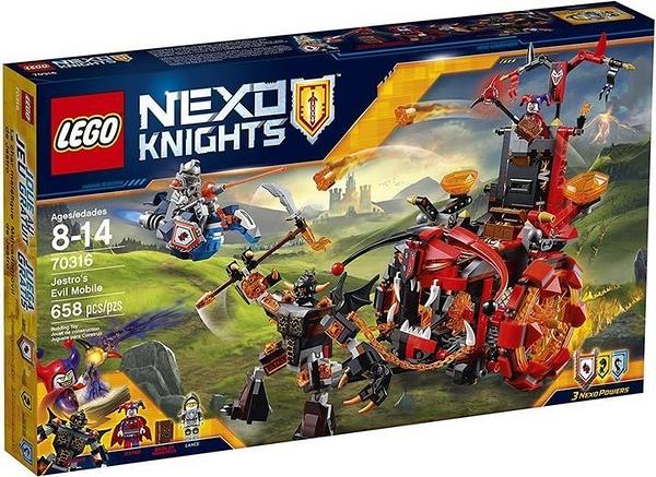 LEGO 樂高 NexoKnights Jestro的Evil Mobile 70316