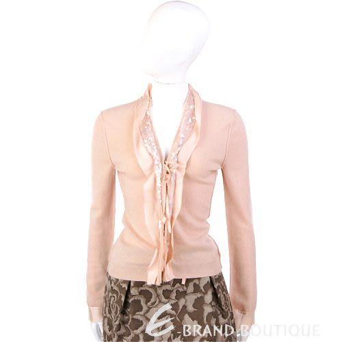 ROBERTA SCARPA 粉橘色荷葉造型亮片飾外套 0550153-39