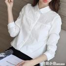 純棉白襯衫女長袖春秋2020新款韓版寬鬆洋氣職業裝襯衣上衣打底寸 聖誕節全館免運