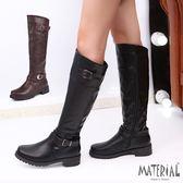 長靴 騎士風平底長筒靴 MA女鞋 C2427