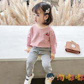 女童運動套裝寶寶時髦秋裝兒童韓版潮小童【淘嘟嘟】