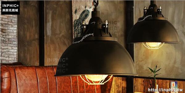INPHIC- 工業風復古鐵藝酒吧咖啡美式燈餐廳鍋蓋吧台設計師吊燈-F款_S197C