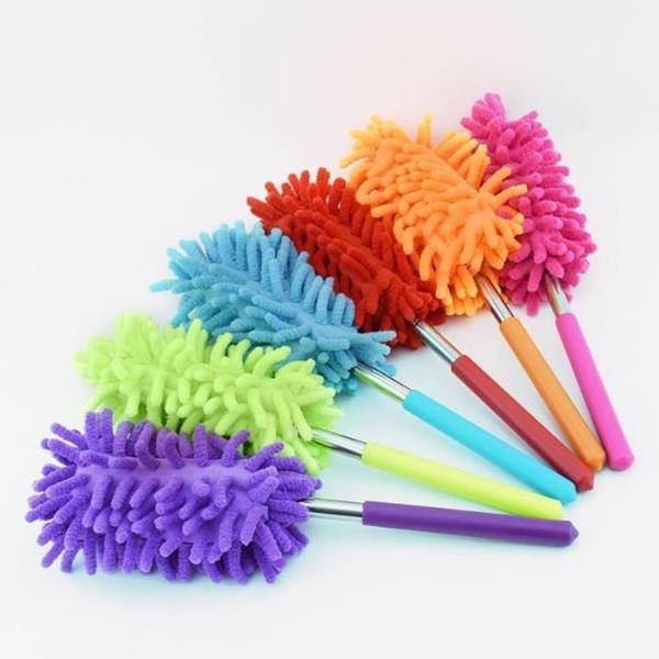 [拉拉百貨]迷你伸縮除塵棒 雪尼爾五節除塵刷 伸縮除塵撣 珊瑚纖維除塵撣 雞毛撣