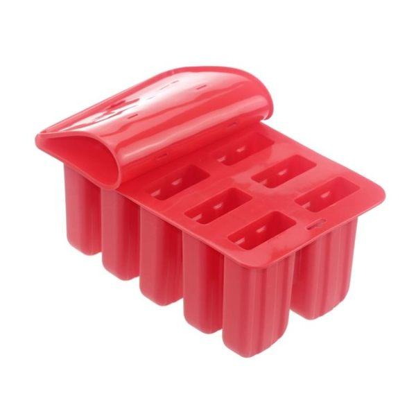 10連冰棒模具硅膠創意棒冰模具制冰盒帶蓋經典老冰棍模具雪糕模具 全館免運