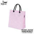 手提袋-編織袋(S)-粉紫白-03C