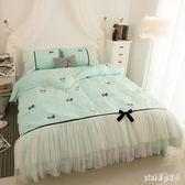 公主風純棉四件套床裙全棉蕾絲邊少女心被套2.0m床上用品 js11078『Pink領袖衣社』