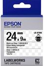 LK-6TBN EPSON 標籤帶(透明底黑字/24mm) C53S656412
