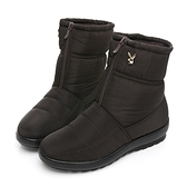 PLAYBOY 冬日暖意 防潑水輕量中筒雪靴-咖(Y6766)