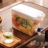 冰箱冷水壺帶龍頭夏季大容量涼水壺家用耐高溫可樂檸檬水瓶冷水桶 小時光生活館