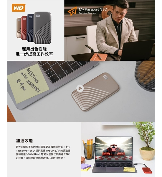 【新款】WD My Passport SSD 行動固態硬碟 1T 行動硬碟 固態硬碟 1TB 外接式SSD 隨身硬碟