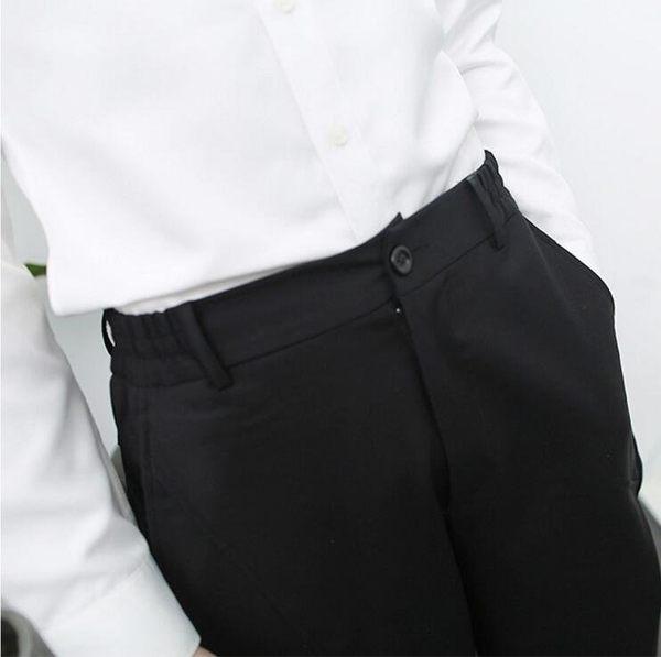 找到自己品牌 簡約男士 中腰鬆緊 哈倫褲 九分褲 小腳休閑褲