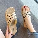 涼拖鞋女士夏季外穿時尚仙女平底涼鞋外出拖...
