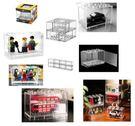 Poco+玩具部  全新 微影 TINY 1/64 車仔用 樂高 透明展示盒 1套8個