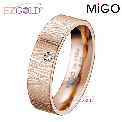 MiGO鋼飾♥柔情-玫瑰金♥鋼飾鑽石戒指(女)