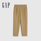 Gap女裝 舒適彈力錐形休閒褲 625036-卡其色