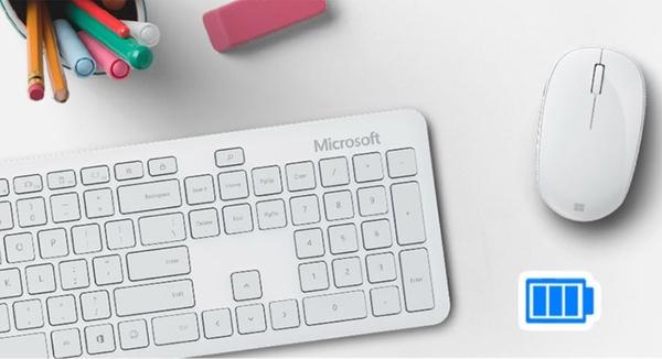 微軟精巧藍芽鍵鼠組-月光灰