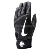 Nike 打擊手套 Huarache Edge 運動手套 黑 白 魔鬼氈 棒球手套【PUMP306】 NBG01-027