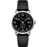 Hamilton 漢米爾頓 卡其海軍先鋒小秒針機械錶-黑/40mm H78415733
