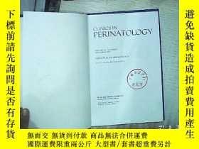 二手書博民逛書店CLINICS罕見IN PERINATOLOGY DEC 198