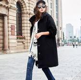 風衣外套長袖大衣寬鬆英倫中長款風衣外套N705-D.2232韓依紡