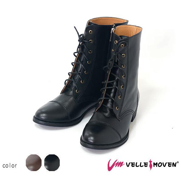 馬丁靴 短靴 VelleMoven 時尚皮革 拼接馬丁 不可或缺 時  尚元素 帥性黑