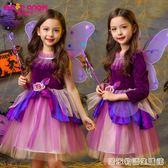 萬聖節兒童服裝衣服女童長袖白雪公主裙女孩巫婆女巫裙萬圣節禮服  居家物語