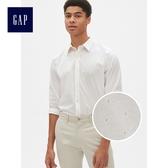 Gap男裝 舒適無褶長袖鈕扣襯衫 441149-淡粉色圓點花紋