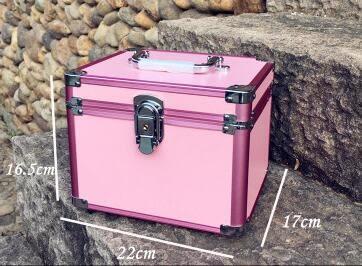 手提家用美甲箱紋繡色料箱收納化妝箱半永久工具箱足療桑拿保健箱