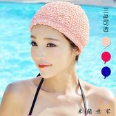 長短發護耳布游泳帽不勒頭溫泉泳帽女