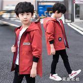 男童外套2019新款兒童中長款男孩洋氣風衣中大童韓版休閒夾克外套 QQ18797『東京衣社』
