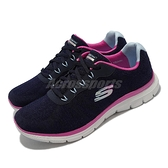 Skechers 健走鞋 Flex Appeal 4.0 Fresh Move 寬楦頭 女鞋 深藍 紫 【ACS】 149570-WNVPR