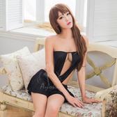 黑色平口百褶美背二件式睡衣 情趣內睡衣 《SV8067》快樂生活網