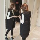 羽絨馬甲 2021冬季新款韓版寬鬆網紅中長款背心棉馬甲女羽絨棉服馬夾外套女 愛麗絲