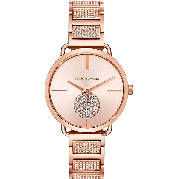 Michael Kors PORTIA 紐約腕錶-玫塊金x晶鑽/36mm MK3853