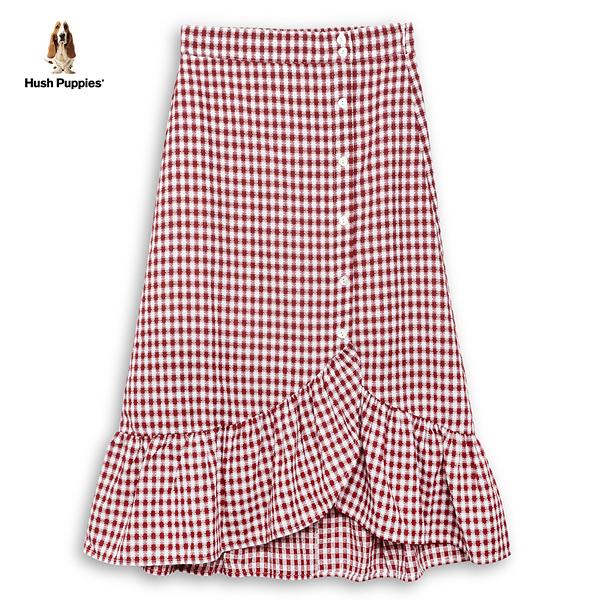 Hush Puppies 魚尾裙 女裝格紋排釦魚尾長裙