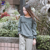 【春夏新品】American Bluedeer - 荷葉圓領上衣(特價) 春夏新款