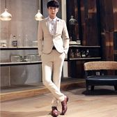 西裝套裝含西裝外套+西裝褲(二件套)-經典簡單素面設計商務男西服4色73hc90[時尚巴黎]