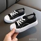 快速出貨 新款正韓兒童糖果色帆布鞋男女童休閒餅干鞋寶寶小白鞋子