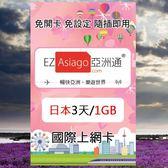 【亞洲通】日本3天(1GB)上網卡(軟銀/高速/即插即用/免設定)
