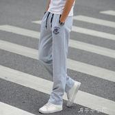 春夏季運動褲男長褲青少年寬鬆直筒潮流大碼學生男士休閒褲長衛褲 「千千女鞋」