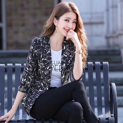 中袖西裝外套女M-3XL韓版小個子修身短款復古時尚潮流百搭氣質女士西服9585F3062B紅粉佳人