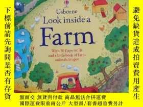 二手書博民逛書店Look罕見Inside a FarmY351366 Katie Daynes Usborne Publish