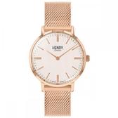 【台南 時代鐘錶 Henry London】英倫復古風潮 經典品味時尚腕錶 HL34-M-0376 玫瑰金 34mm