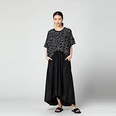 T恤-短袖圓領復古抽象鏈條印花女上衣2色73th19[時尚巴黎]