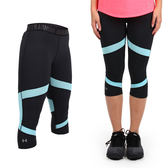 UNDER ARMOUR HG Coolswitch女慢跑緊身七分褲(免運 路跑 瑜珈≡排汗專家≡