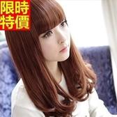 中長假髮-可愛齊瀏海捲髮尾流行女美髮用品4色69o20【巴黎精品】