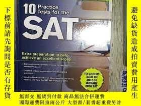 二手書博民逛書店10罕見Practice Tests for the SAT: